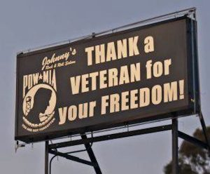 thank-a-veteran-sign